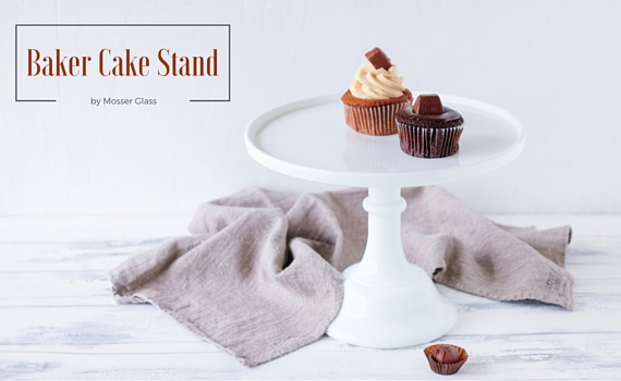Baker Cake Stand in Weiss