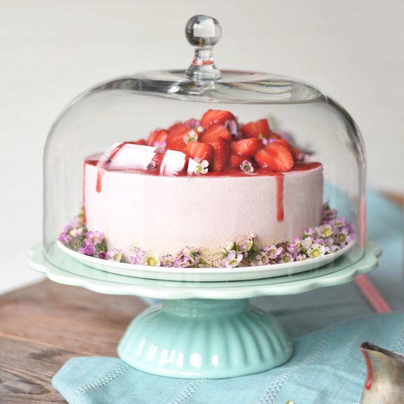 ib laursen tortenplatte mynte in mintgr n mit glashaube cake stands bei home of cake. Black Bedroom Furniture Sets. Home Design Ideas
