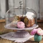 Ib Laursen Tortenplatte Mynte in Lavendel mit Glashaube
