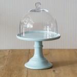 Miss Étoile, Cake Stand in Hellblau mit Glashaube