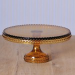 Hobnail Cake Stand in Amber groß