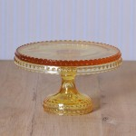 Hobnail Cake Stand in Yellow medium
