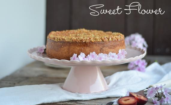 Tortenplatte Sweet Flower in Rosa