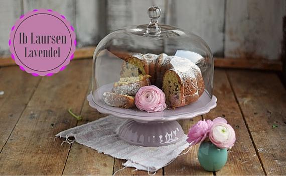 Ib Laursen Tortenplatte Mynte mit Glashaube in Lavendel