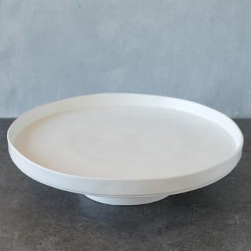 Tortenplatte Linie Puro in Weiß Matt