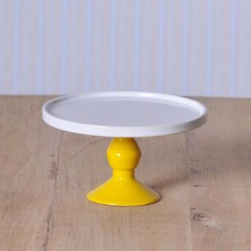 Jansen+co, Cake Stand klein mit Fuß in Gelb