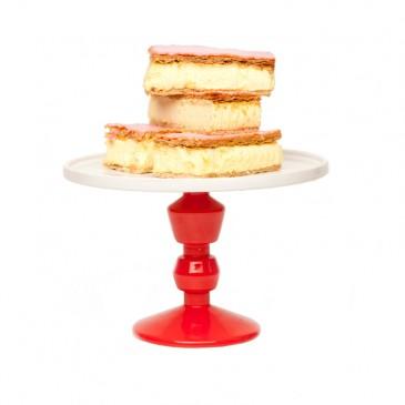 Jansen+co, Cake Stand medium mit Fuß in Rot und Deko