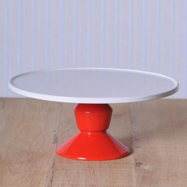 Jansen+co, Cake Stand groß mit Fuß in Rot