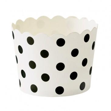 Miss Étoile, Muffinförmchen Punkte Schwarz/Weiß