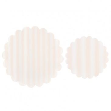Miss Étoile, Tortendecke Streifen im Set Rosa/Weiß