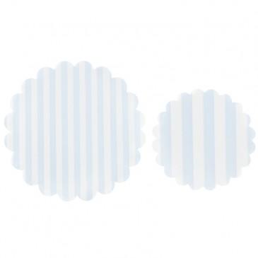 Miss Étoile, Tortendecke Streifen im Set Hellblau/Weiß