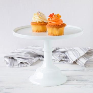 Baker Cake Stand in Weiß von Mosser Glass