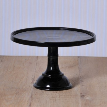Baker Cake Stand in Black von Mosser Glass