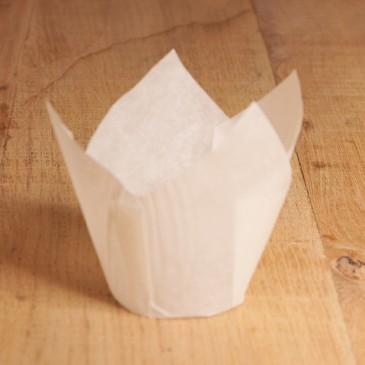 Tulpen Muffinförmchen Weiß