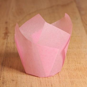 Tulpen Muffinförmchen Rosa