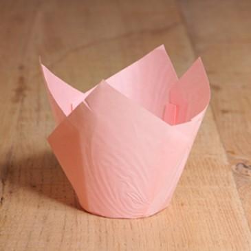 Tulpen Muffinförmchen Hellrosa