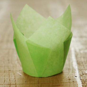 Tulpen Muffinförmchen Hellgrün