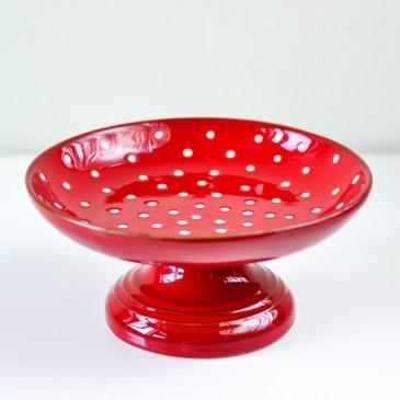 Virginia Casa, Keksschale Punkte Weiß/Rot