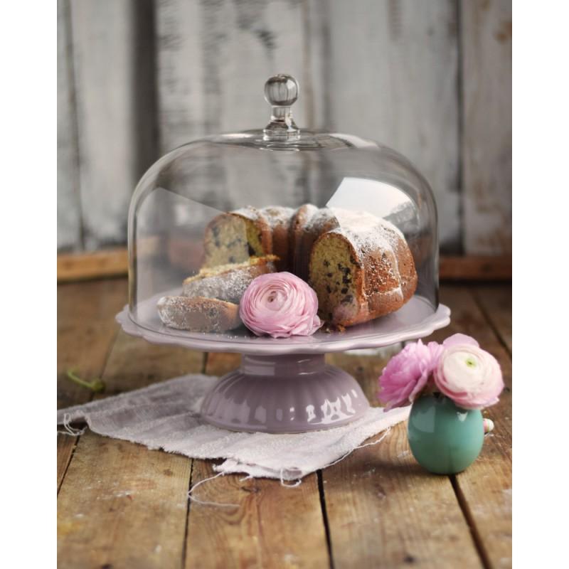 ib laursen tortenplatte mynte in lavender haze mit glashaube cake stands bei home of cake. Black Bedroom Furniture Sets. Home Design Ideas