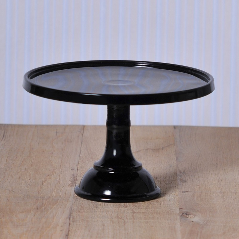 baker cake stand tortenplatte mit fu in schwarz cake stands bei home of cake. Black Bedroom Furniture Sets. Home Design Ideas