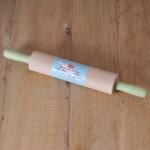 Tala Retro, Holz-Teigrolle mit Griffe in Pastellgrün