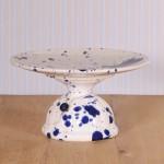 Hollandsche Waaren, Cake Stand in Weiß mit dunkelblauen Sprenkel