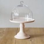 Miss Étoile, Cake Stand in Pfirsich mit Glashaube