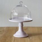 Miss Étoile, Cake Stand in Lavendel mit Glashaube