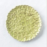 Kuchenteller Ortensia in Limonengrün