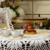 Hobnail Cake Stand in Amber Large
